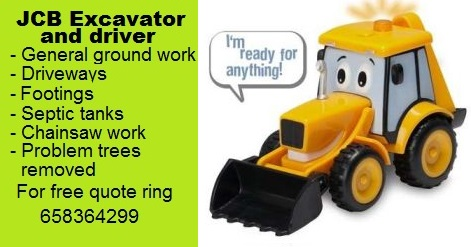 JCB and driver